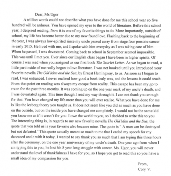 letter to my favorite teacher After reading a realistic fiction story, the student will write a letter to the author   this contains practical suggestions and intriguing activities to help teachers use.